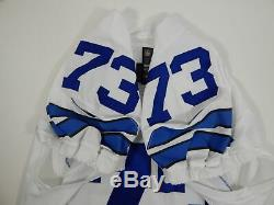 2016 Dallas Cowboys Joe Looney #73 Game Issued White Jersey