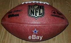 2016 Dallas Cowboys vs Redskins (GAME USED) #7 Football WithQB Dak Prescott