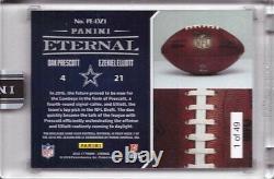 2016 Panini Eternal Dak Prescott Ezekiel Elliott Game Used Football Rookie /49
