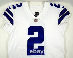 2017 Dallas Cowboys Brett Maher #2 Game Issued White Jersey DP09379