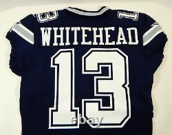 2017 Dallas Cowboys Lucky Whitehead #13 Game Issued Navy Jersey DP09515