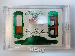 2017 Panini Flawless Encased Emerald Barry Sanders GAME USED, ON-CARD AUTO 3/5