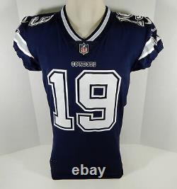 2018 Dallas Cowboys Amari Cooper #19 Game Issued Navy Jersey DP07928