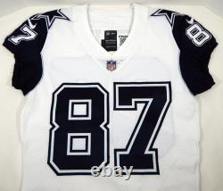 2018 Dallas Cowboys Geoff Swaim #87 Game Issued White Jersey Color Rush DP09432