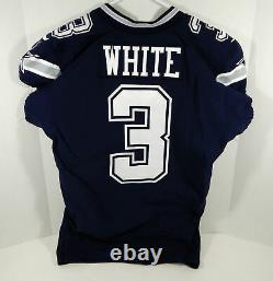 2018 Dallas Cowboys Mike White #3 Game Issued Navy Jersey DP09497