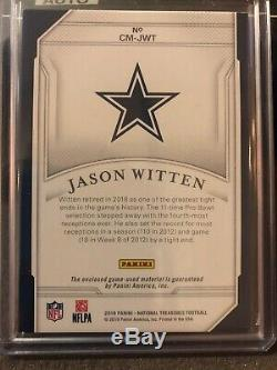 2018 National Treasures Jason Witten Century Materials 1/5 Game Used STAR Cowboy