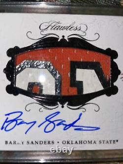 2018 Panini Flawless Autograph GAME USED Patch Barry Sanders TRUE 1/1