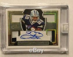 2018 Panini One Emmitt Smith Autograph Quad Game Used Patch Auto /3
