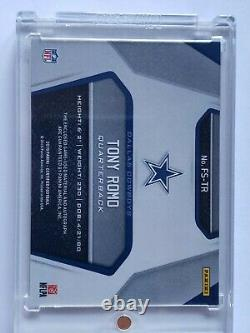 2019 Certified TONY ROMO Fabric Of The Game Patch/Auto #1/7