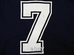 2019 Dallas Cowboys Cooper Rush #7 Game Issued Navy Jersey EST 1960 Patch 528