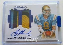 2019 Flawless TROY AIKMAN Autograph GAME USED 3clr Jersey Patch Auto 5/15