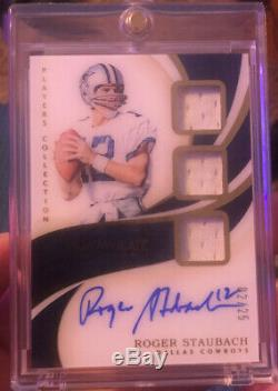 2019 Immaculate ROGER STAUBACH Game Used Jersey On Card Auto #/25 Cowboys Hof