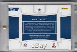 2019 Panini National Treasures TONY ROMO Reebok Game Worn Patch #d 1/1 Cowboys