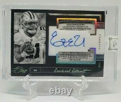 2019 Panini One On Card Auto EZEKIEL ELLIOT GAME-USED Patch Laundry Tag SSP 1/5