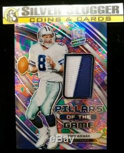 2019 Troy Aikman Spectra Pillars of the Game Patch #3/5! DALLAS COWBOYS