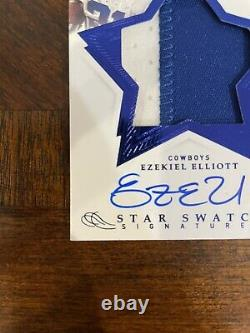 2020 Flawless Ezekiel Elliot # 1/3 AUTO GAME USED JSY patch Star swatch Cowboys