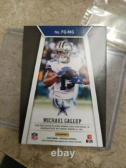 2020 Leaf Certified. Dallas Cowboys. Fabric of the Game. Michael Gallup 1/1