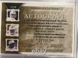 2020 Leaf In The Game Used Cowboys Signatures Irvin/Aikman/Smith 1/5 Rare Hotttt