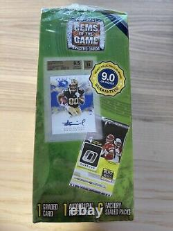 2020 NFL Football Gems of the Game Box 1 Auto/Relic and 1 Graded Card SEALED