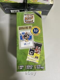 2020 NFL Football Gems of the Game Box Auto/Relic, Graded, 6 Packs LOT OF 3