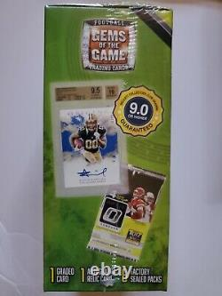2020 NFL Football Gems of the Game Box Auto/Relic Graded 6 Packs Sealed Lot of 5