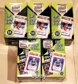 2020 NFL Football Gems of the Game Box Auto Relic Graded LOT OF 5 New Sealed