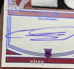 2020 National Treasures CeeDee Lamb National Championship Game Patch Auto /5 SSP