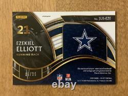 2020 Select Ezekiel Elliott Game Worn Jersey Autograph Serial #08/25 SSP Rare