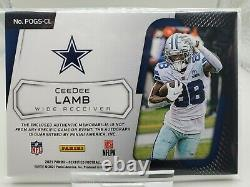 2021 Certified Ceedee Lamb Piece Of The Game FOTL Autograph Relic /25 COWBOYS
