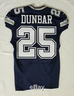 #25 Lance Dunbar of Dallas Cowboys NFL Locker Room Game Issued Jersey
