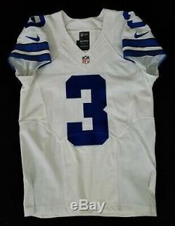 #3 Brandon Weeden (QB) of Dallas Cowboys NFL Game Issued Lightly Worn Jersey