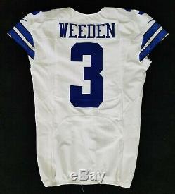 #3 Brandon Weeden (QB) of Dallas Cowboys NFL Locker Room Game Issued Jersey