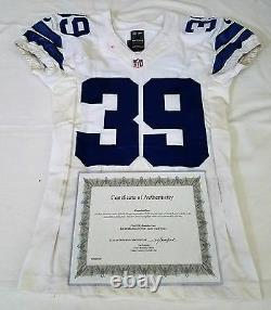 #39 Brandon Carr of Dallas Cowboys NFL Locker Room Game Worn Jersey with COA
