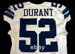 #52 Justin Durant of Dallas Cowboys NFL Locker Room Game Issued Jersey