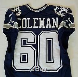 #60 Davon Coleman of Dallas Cowboys NFL Locker Room Game Issued Worn Jersey