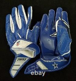 #82 Jason Witten of Dallas Cowboys NFL Locker Room Game Issued Gloves (2XL)