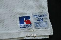#85 DALLAS COWBOYS RUSSELL TEAM ISSUED PRACTICE GAME CUT JERSEY WHITE sz 48