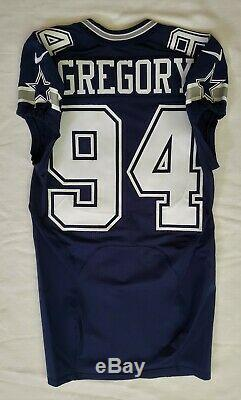 #94 Randy Gregory of Dallas Cowboys NFL Locker Room Game Issued Jersey