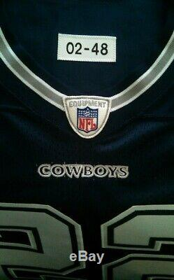 Authentic 02 Dallas Cowboys Emmitt Smith game issued away jersey