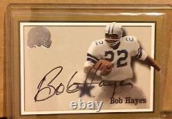 Bob Hayes 2000 Fleer Greats of the Game Gold Border Signature Auto graph HOF