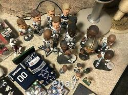 DALLAS COWBOYS Collection Aikman autograph Bobble heads Mcfarlane Game Used Lot