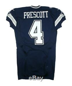 Dak Prescott 2016 Game Issue Dallas Cowboys Prova NFL Road Jersey
