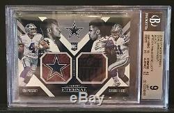 Dak Prescott / Ezekiel Elliott Dual Memorabilia 1st NFL Game! NFL Shield/Cowboys