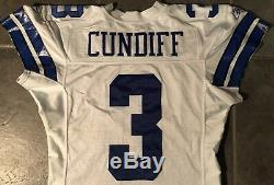 Dallas Cowboy Billy Cundiff game Issued Worn Reebook jersey 2004 size 46