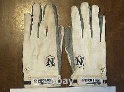 Dallas Cowboys 1990 Emmitt Smith Game Used Worn Football Neumann Gloves Pair COA