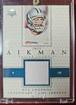 Dallas Cowboys 9 Card UD NFL Legends Game Used Jersey lot Aikman Staubach Deion+