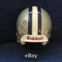 Dallas Cowboys Adult Riddell Vsr 4, Custom Game Used Helmet
