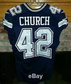 Dallas Cowboys Barry Church Game Worn / Game Used Jersey With Cowboys Letter