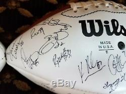 Dallas Cowboys, Buccaneers, Falcons, Team-Signed & Game Balls - Emmitt Smith