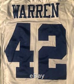 Dallas Cowboys Chris Warren Game Worn 2000 jersey with Tom Landry Patch Nike